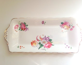 Royal Albert Tray, English Bone China Pin Tray, Serving Tray, Vanity Accessory,  Porcelain Tray, China Dish, Antique China
