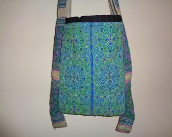 Vietnam Hmong Cotton Embroidered Hemp Messenger Bag