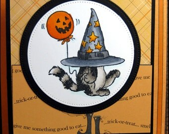 Kitty Witch Halloween Card