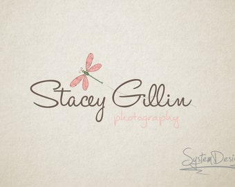 Photography Logo Dragonfly logo Watermark Custom logo design