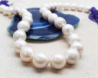 Baroque Fresh Water Pearls (Round-ish)