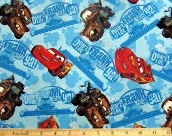 Per yard, Disney Cars Don't Let Frank Get Ya Fabric