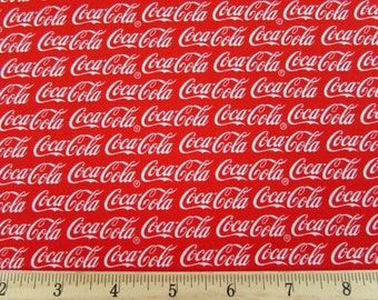 Per Yard, Coca Cola Coke Fabric From Sykel