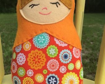Plush Matryoshka Doll Nesting Doll, MADE TO ORDER