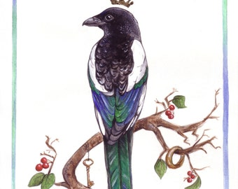 The Magpie King - A4 Print