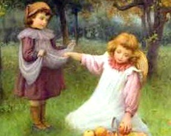 """11 x 14"""" canvas art print.    In-the-orchard by William Affleck (1869 – 1943)"""