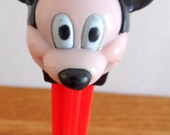 Vintage Mickey Mouse Pez container.  Free ship US