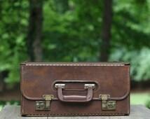 Vintage Salesman Catalog Case / Olivetti Programma 101 Salesman Catalog Case / Large Salesman Brief Case