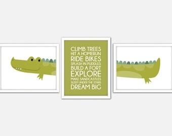 Crocodile Nursery Art, Jungle Nursery Print, Alligator Art Print, Crocodile Wall Art, Crocodile Nursery Print, Baby Boy Nursery Quote Print