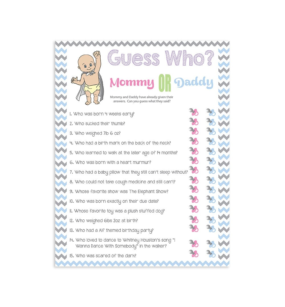 printable baby shower game guess who couples