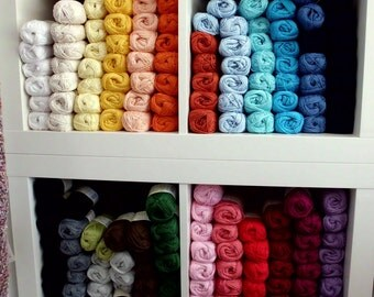 cotton, cottonyarn, knitting yarn, crochet yarn, 100 % cotton yarn, Mariposa from Lana al Zetta - 50 gr = 125 m - many different colors