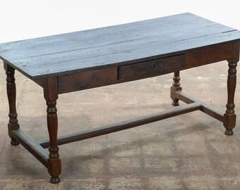 18th c. antique English Farmhouse writing Table- late 1700s
