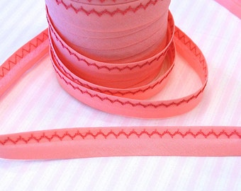 Ribbon embroidered pink/dark pink