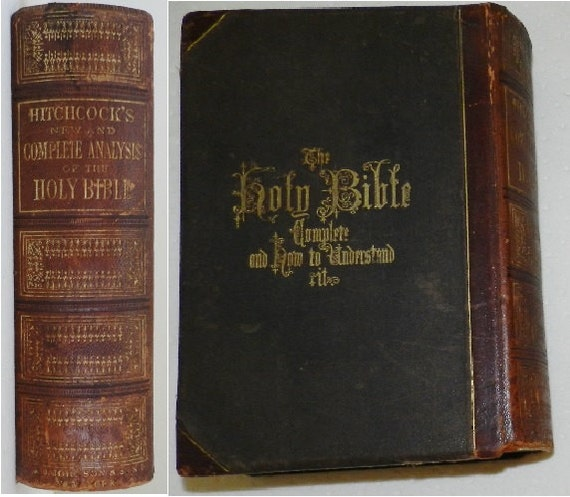 1877 Hitchcock's Holy Bible Complete & How to Understand Holy Bible Side Cover