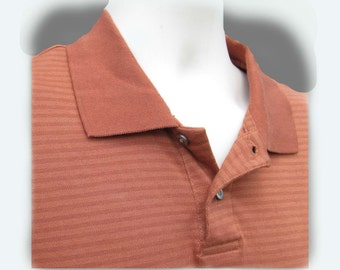 men's knit shirt, collared knit shirt, short sleeve shirt,polo shirt, size L (large),   # 77