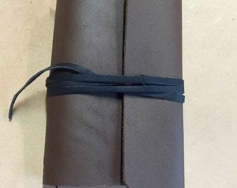 Tri-Fold Leather Journal