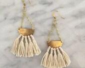 Luna Tassel Earrings // Fiber Earrings