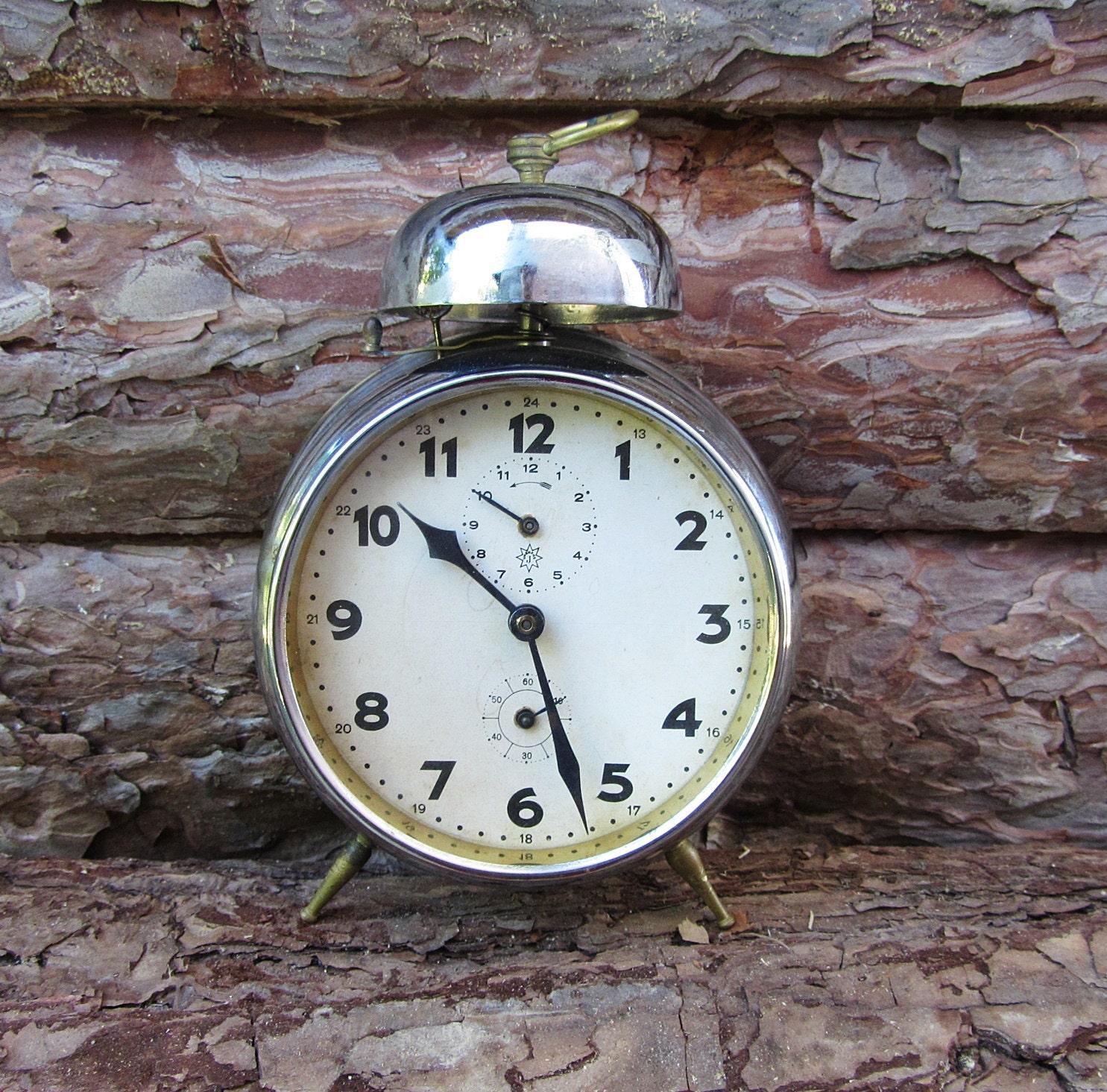 Antique German alarm clock Junghans Vintage alarm clock
