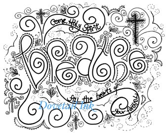 printable set of 3 come holy spirit christian prayer coloring pages for grownups