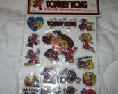Vintage Nintendo 1982 Puffy with Eyes Donkey Kong Mario Stickers