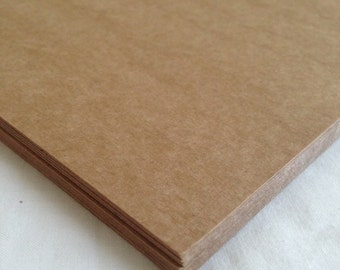 kraft cardstock - 80 pound - Set of 25 pages - heavy kraft cardstock - rustic cardstock - kraft paper
