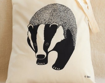 Badger Cotton Tote Bag
