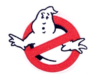 """3"""" CARTOON movie ghost busters logo Embroidered Iron on patch"""