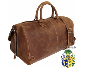 Men's travel bag Gymbag COLUMBUS brown Grassland-Leather - BARON of MALTZAHN