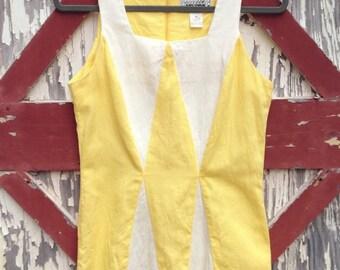 California Rhythms Dress (Medium). Mini Dress. Patterned Dress. Vintage Dress.