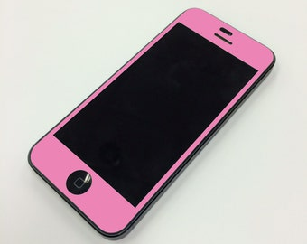 Light Pink iPhone Front and Back Color Vinyl Wrap - Decal for your Iphone 5 5C or 5S