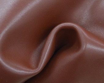 "Brown Leather Cow Hide 8"" x 10"" Pre-cut 3 ounces flat grain TA-27546 (Sec. 4,Shelf 2,D)"