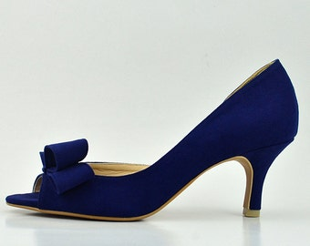 Something Blue Wedding Shoes Navy Bridal