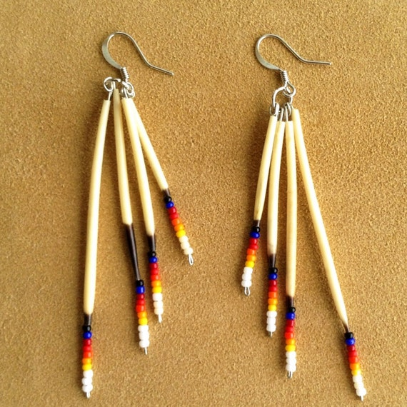 Porcupine Quill Jewelry Items similar t...