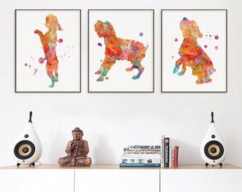Schnauzer Art Print, Set of 3 Prints, Watercolor Schnauzer, Schnauzer Painting, Schnauzer Wall Art, Schnauzer Wall Decor, Watercolor Dog Art