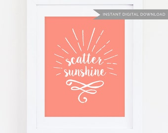 Scatter Sunshine  | Coral 5x7 Print | Instant Digital Download