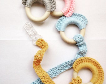 Wooden teething rings