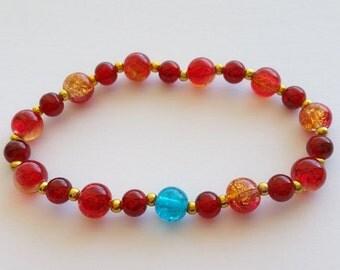 IRON MAN inspired stretch bracelet