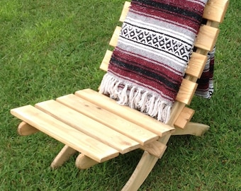 Collapsible Wooden Pallet Lawn Chair
