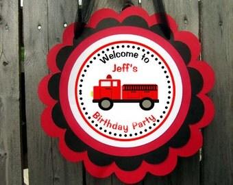 Firetruck Door Sign