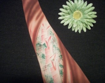 SWINGING Dance Hall 1940s Awesome RAYON Tie w MODERNIST Designs