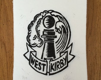 West Kirby - Limited Edition, Hand Printed Linocut
