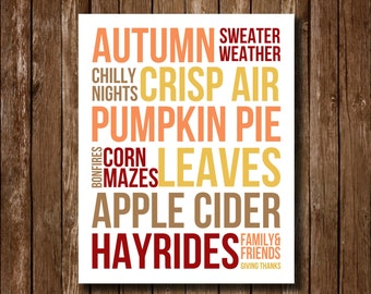 Things About Autumn Printable