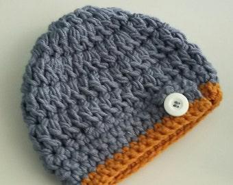Crochet new born hat, knit hat, girl hat, Knit Kids Hat