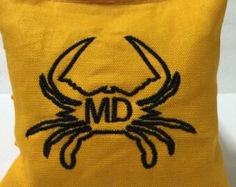 Maryland Cornhole Bags Custom Maryland Crab Corn Hole Bags Baggo Bean Bags Unique Gift Idea