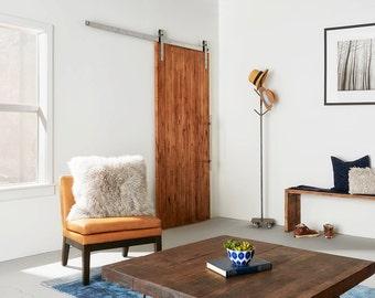 Custom Built Vertical Rip Knotty Alder Sliding Barn Door