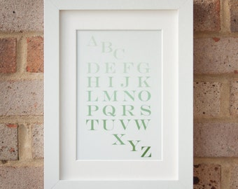 Alphabet, Green - Gicleé print