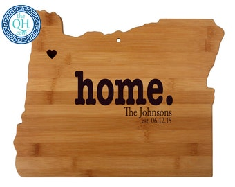 Oregon Personalized Cutting Board | Home | Custom Housewarming or Unique Wedding Gift