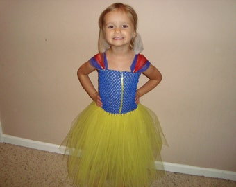 Snow White inspired Tutu Dress, Halloween costume, Birthday party, Dress up!