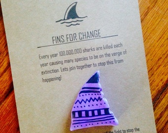 Shark Fin Brooch