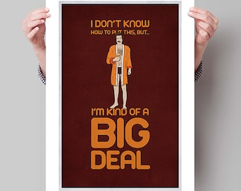 "ANCHORMAN Inspired Minimalist Ron Burgundy Movie Poster Print - 13""x19"" (33x48 cm)"